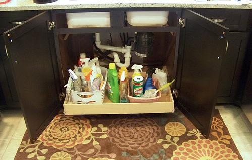 under sink open