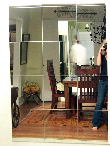 mirror no frame close