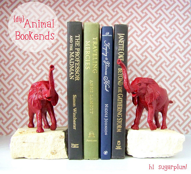 DIY} Animal Bookends | hi Sugarplum!