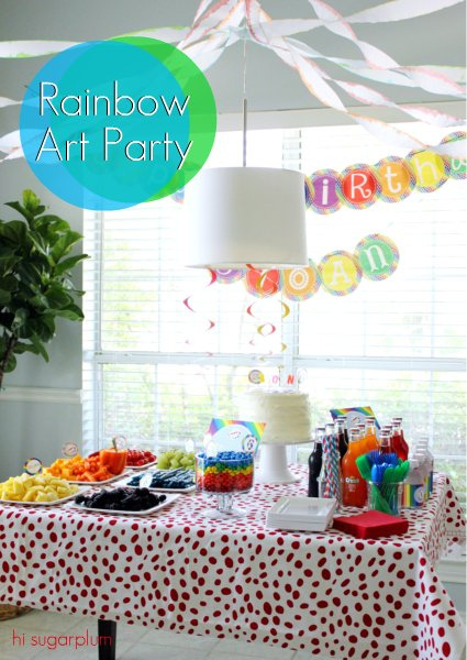 rainbow art party
