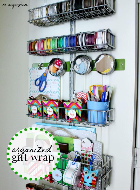 Organizing Gift Wrap Hi Sugarplum