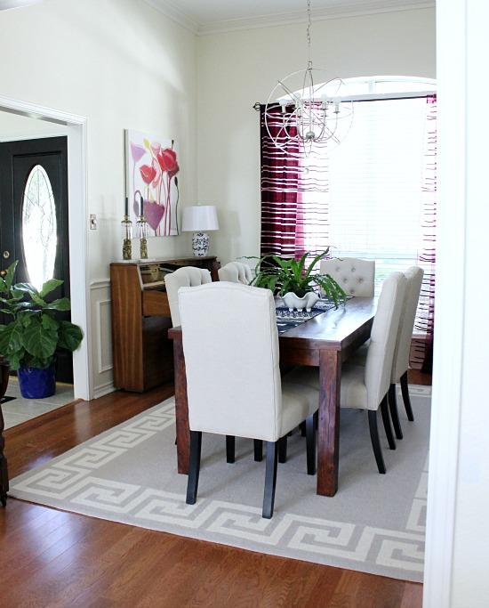 Dining Room greek key rug
