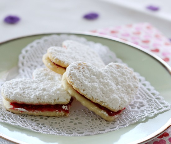 Hi Sugarplum | Easy Linzer Heart Cookies