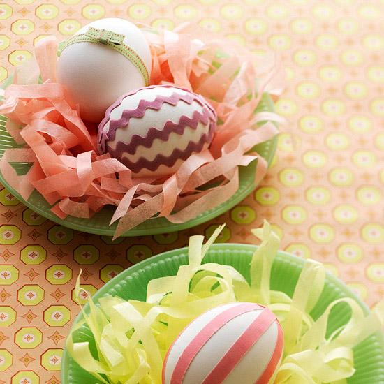 Paper Plate Egg Nest