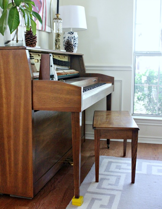 Sheepskin Piano Bench
