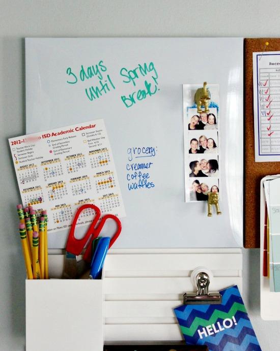 Hi Sugarplum   Family Command Center using Martha Stewart Wall Organizer