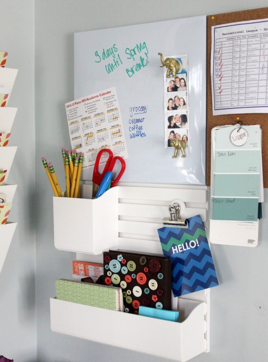 Hi Sugarplum | Family Command Center using Martha Stewart Wall Organizer