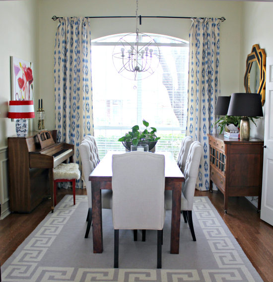 Dining Room Window: {Dining Room} We Have Drapes, People!