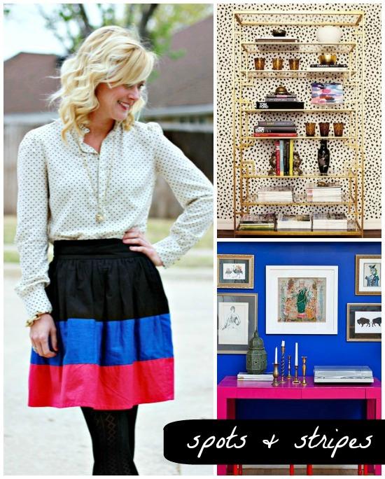 Hi Sugarplum   Outfit Inspiration: Spots & Stripes