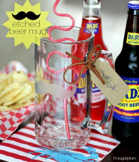 Hi Sugarplum | DIY Mustache Etched Beer Mug