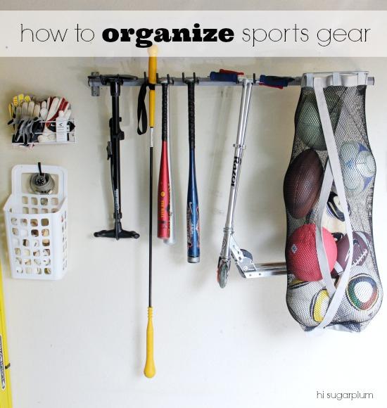Organized Garage The Sports Gear Yard Tools