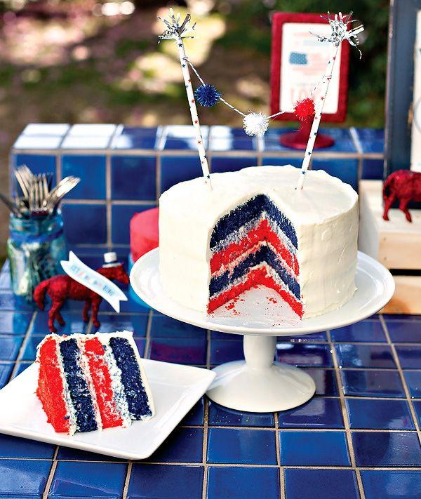 DIY Patriotic Layer Cake @Natasha Sutila Schue