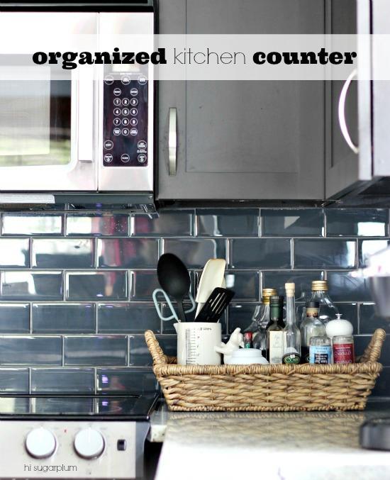 Organized Kitchen Counters Hi Sugarplum