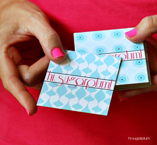 Hi Sugarplum | DIY Gilded Business Cards