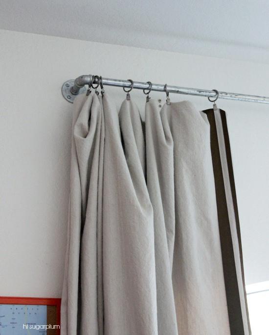 Hi Sugarplum | DIY Galvanized Pipe Curtain Rod