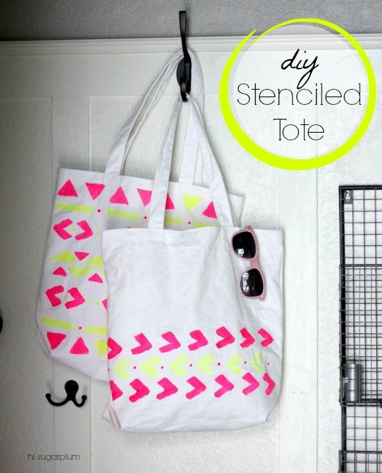 Hi Sugarplum | DIY Stenciled Tote