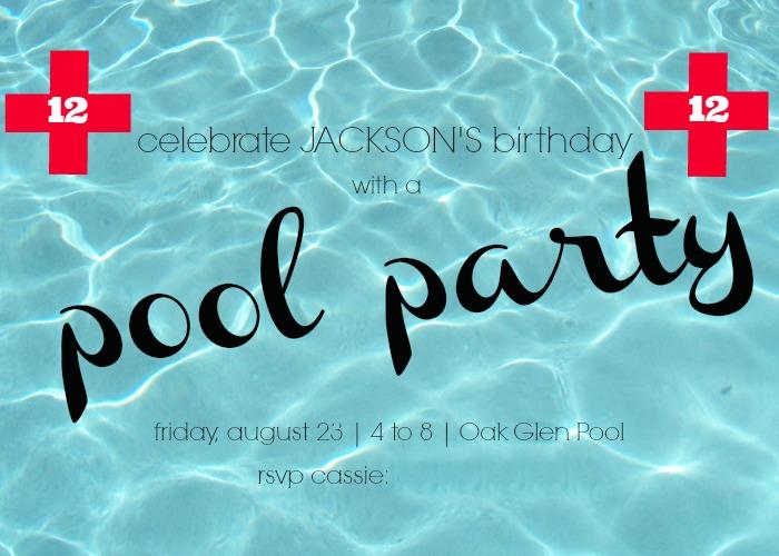Hi Sugarplum   Pool Party Invite