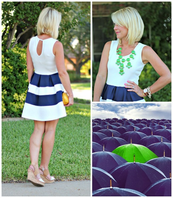 Hi Sugarplum | {Outfit Inspiration} Navy & Kelly Green