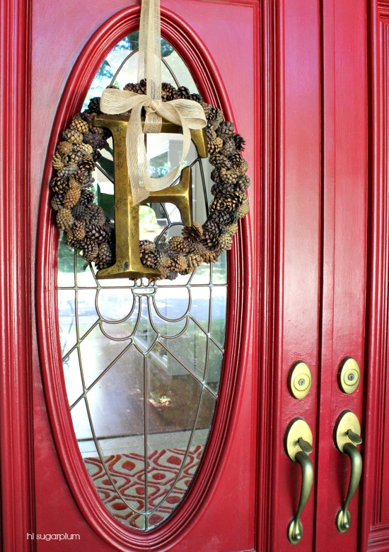 Hi Sugarplum | Fresh Pinecone Wreath