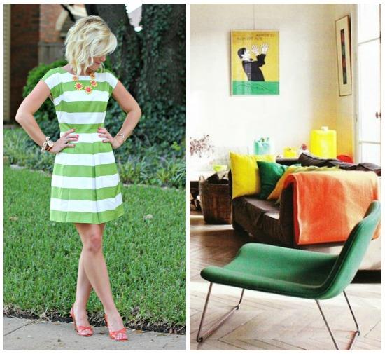 Hi Sugarplum   {Outfit Inspiration} Green & Orange