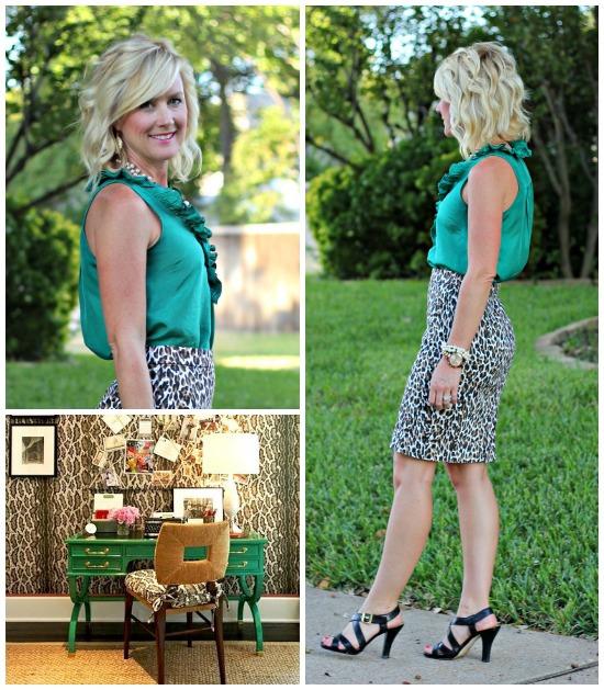Hi Sugarplum   {Outfit Inspiration} Green & Leopard