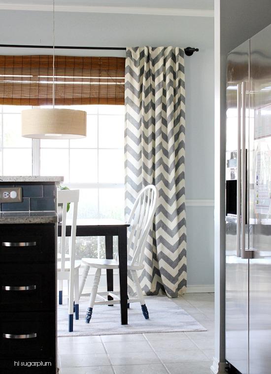 Hi Sugarplum | Breakfast Room West Elm drapes