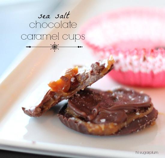 Sea Salt & Chocolate Caramel Cups | Hi Sugarplum!