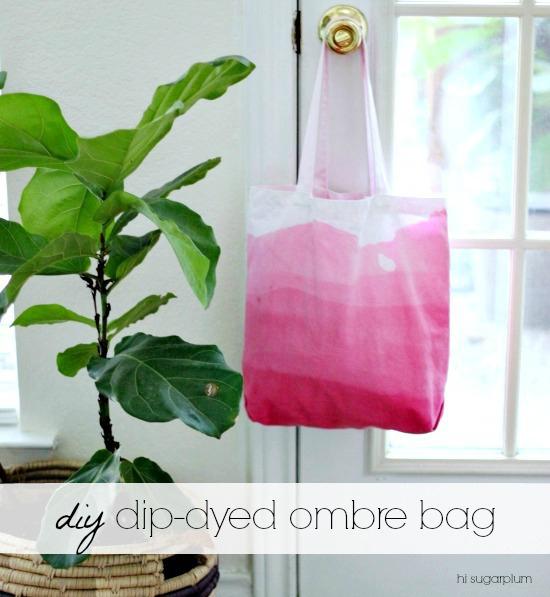 Hi Sugarplum | DIY Dip-Dyed Ombre Bag