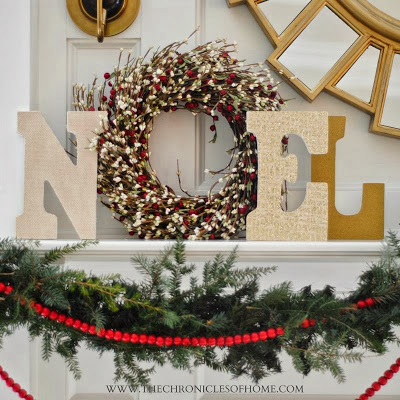 """DIY """"Noel"""" display from The Chronicles of Home"""