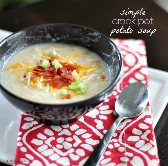 Simple Crockpot Potato Soup