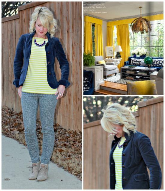 Hi Sugarplum | {Outfit Inspiration} Cobalt & Yellow