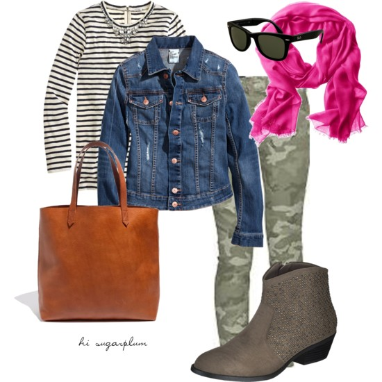 Camo & Stripes Fall Outfit