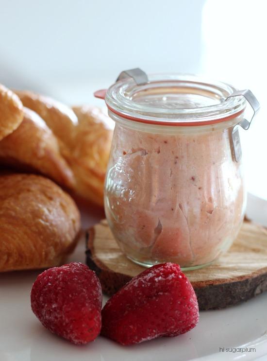 Hi Sugarplum   Homemade Strawberry Butter