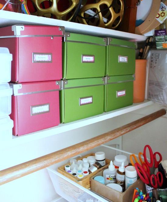 Hi Sugarplum   Craft Closet Organization