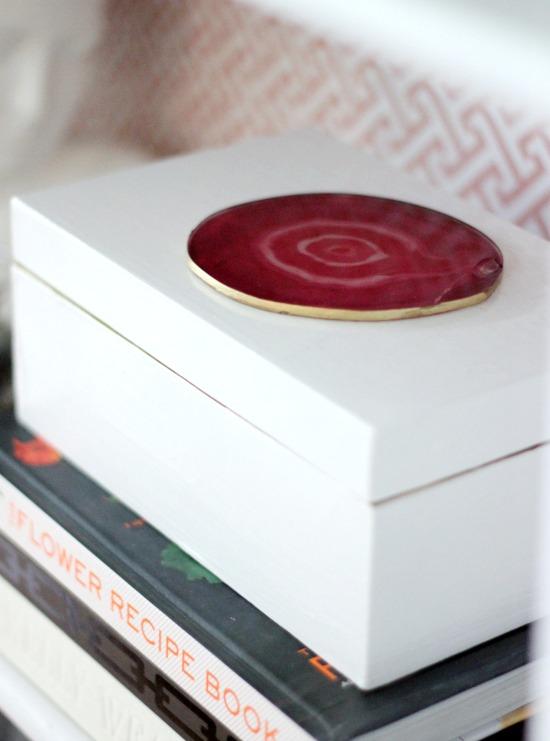 Hi Sugarplum | DIY Agate Lacquered Box