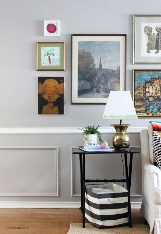 Hi Sugarplum | How to Build a Gallery Wall