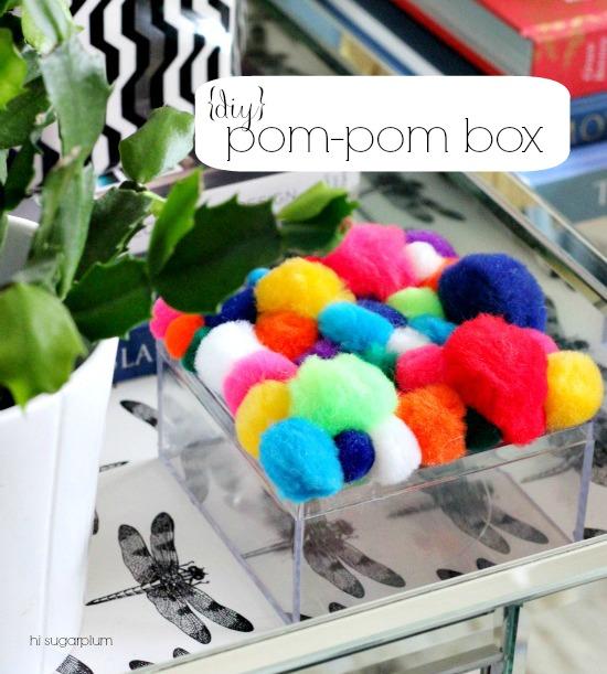 Hi Sugarplum | {DIY} Pom-Pom Box