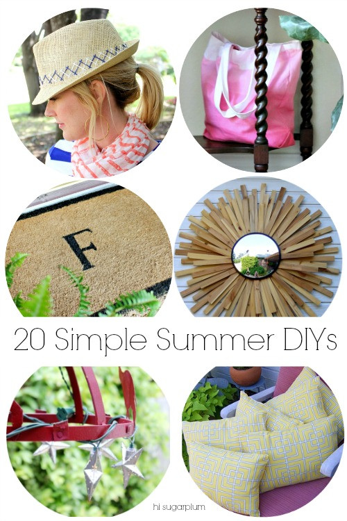Hi Sugarplum | 20 Simple Summer DIY Projects