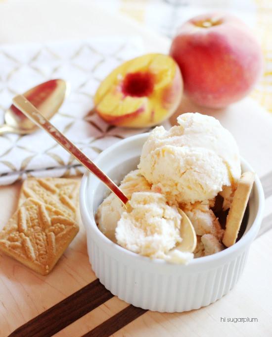 Hi Sugarplum | Peach Ice Cream