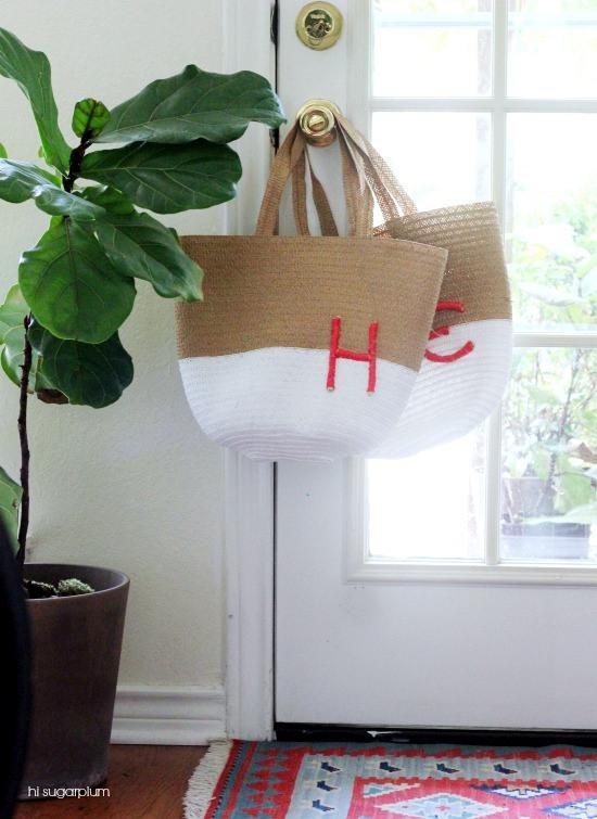 Hi Sugarplum | Monogrammed Tote
