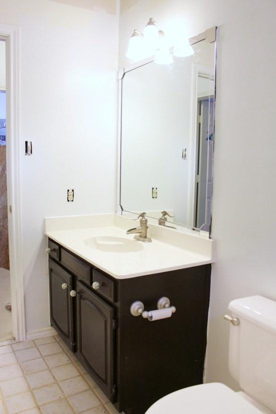 Hi Sugarplum   Big Box Bathroom makeover Day 1