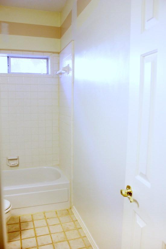 Hi Sugarplum | Big Box Bathroom makeover Day 1
