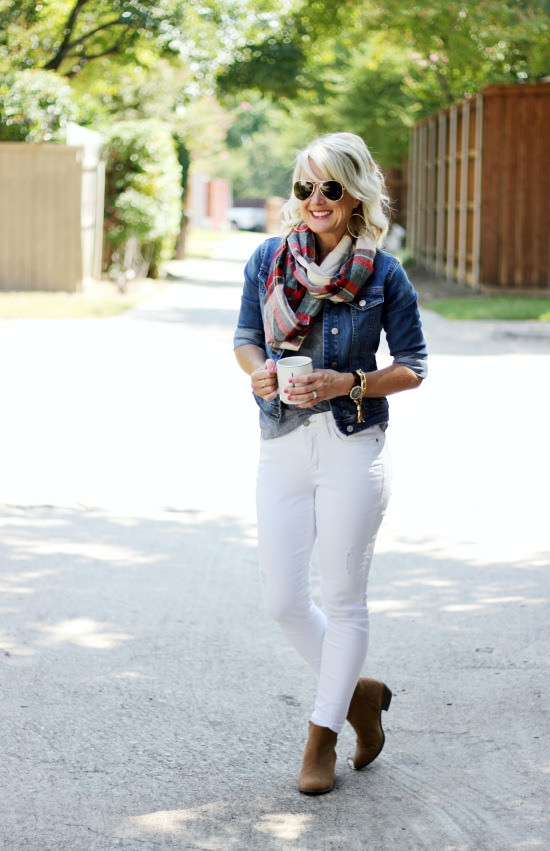 {5 Ways} White Jeans After Labor Day