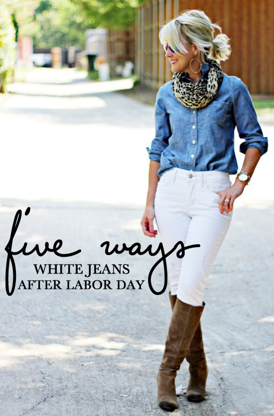 5 Ways} White Jeans After Labor Day | Hi Sugarplum!