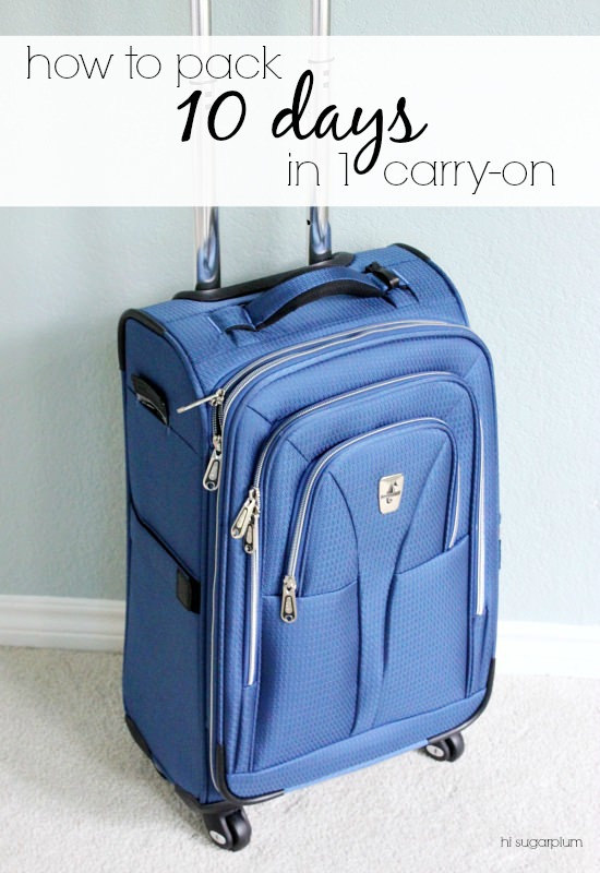 Hi Sugarplum | How to Pack 10 Days in 1 Carry On