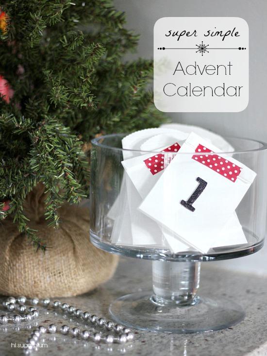 Hi Sugarplum   Easiest Advent Calendar Ever