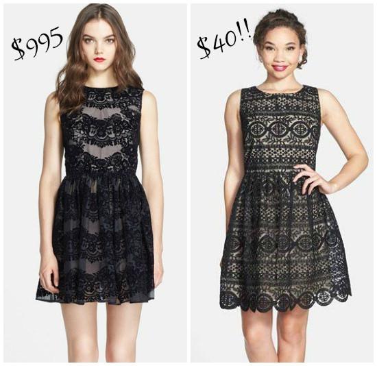 Hi Sugarplum | Save vs Splurge lace dress