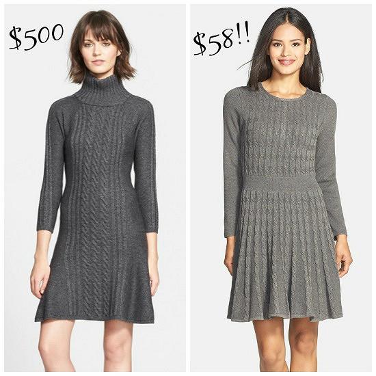 Hi Sugarplum   Splurge vs Save Sweater Dress
