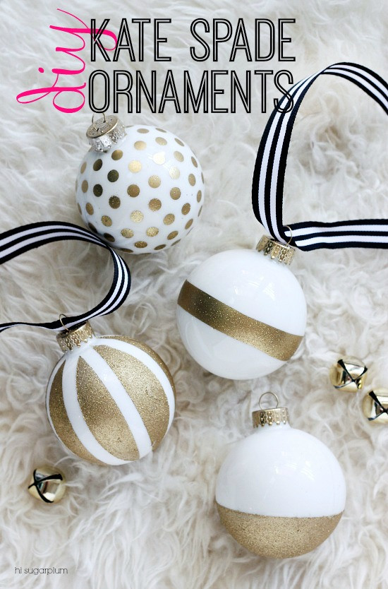 Christmas Craft Kate Spade Inspired Ornaments Hi