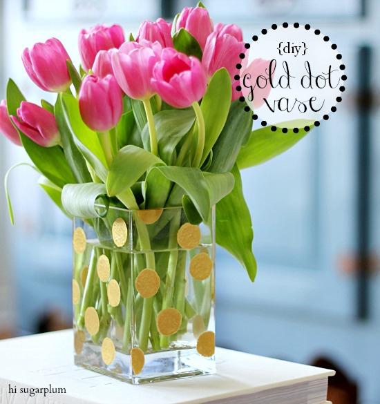 Hi Sugarplum | Gold Dot Vase